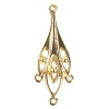 Chandelier Earring 34mm 4 Ring Gold